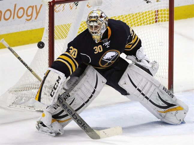 Buffalo Sabres goaltender Ryan Miller makes a blocker save against the Boston Bruins during the third period of an NHL hockey game in Buffalo, N.Y., Thursday, Dec. 19, 2013. When the United States chose the Winter Classic for its Olympic roster announcement, it brushed off the later deadline other countries will take advantage of to name their teams for Sochi.While Canada and the European nations will wait until Jan. 7, the U.S. team will be announced in Ann Arbor on Wednesday immediately following the game between the Toronto Maple Leafs and Detroit Red Wings. THE CANADIAN PRESS/AP/Gary Wiepert