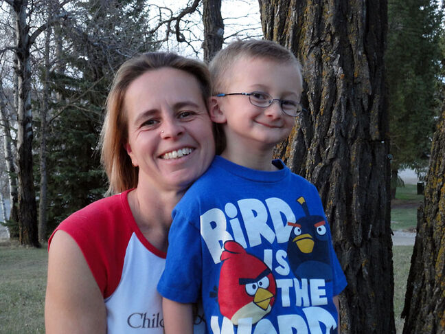 Karen Whitfield of Killarney has been inspired by her son Lance to participate in the 46 Mommas: Shave for the Brave fundraising event in Los Angeles next month.