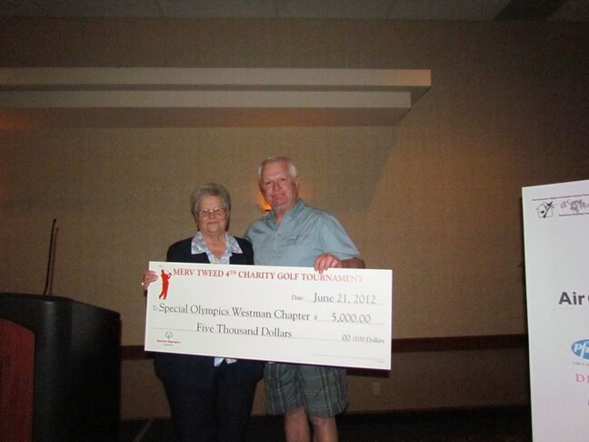 Merv Tweed raised $5,000 for Special Olympics Westman with a charity golf tournament.