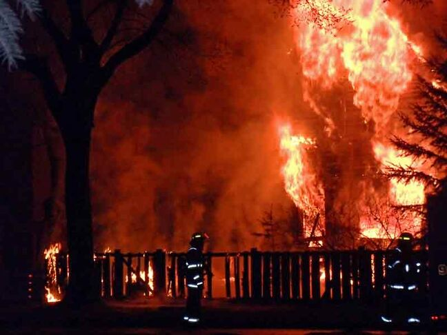 A two-storey house on the 200-block of First Street burns early in the morning of April 4. The 75-year-old resident of the home died in the blaze. Ashtyn Franklin James Richard has been ordered to stand trial on charges of manslaughter and arson with disregard for human life.	No date for the trial has been set.
