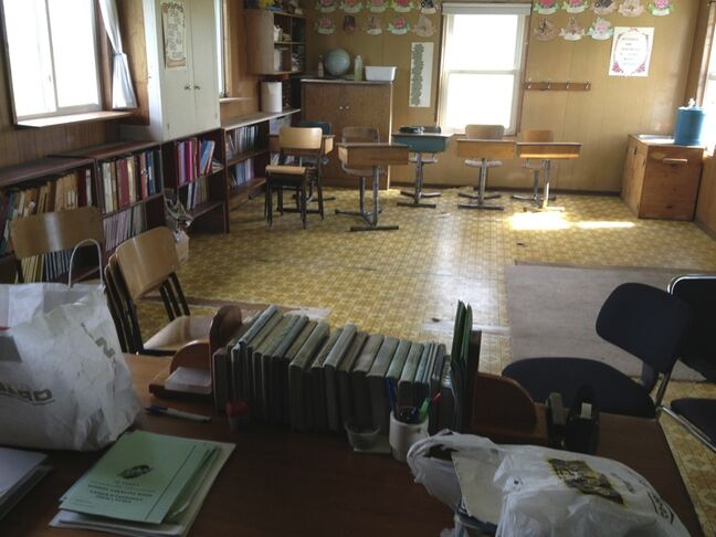 The classroom at an Old Order Mennonite community was empty last year. Child and Family Services apprehended the community's children due to allegations of physical abuse related to extreme discipline.