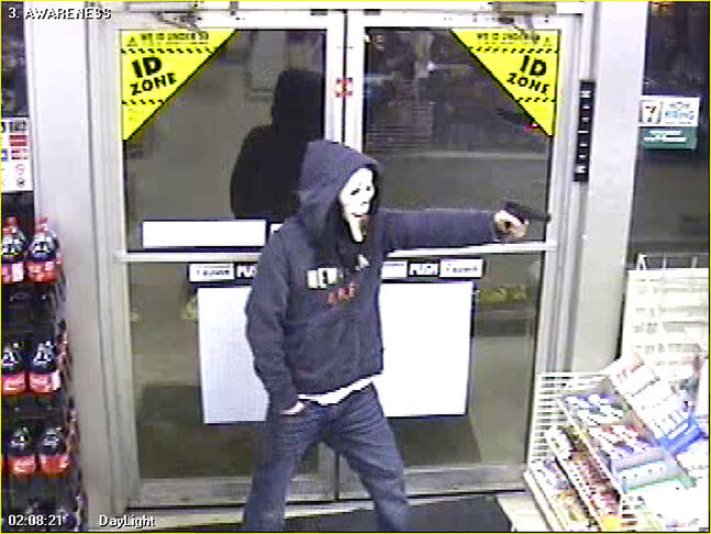 Brandon police are looking for a suspect who robbed the 7-Eleven convenience store on 10th Street at gunpoint early Tuesday morning.