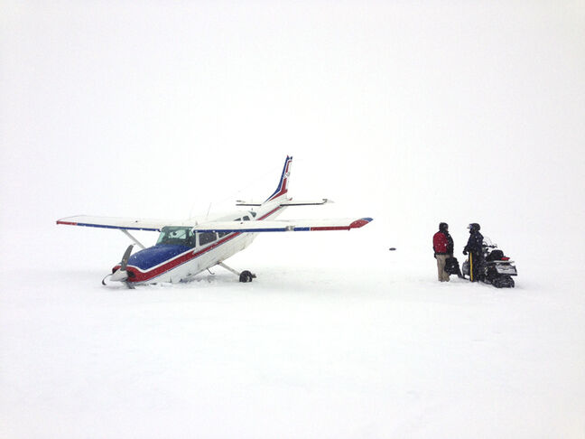 A downed plane sent the pilot to hospital Wednesday afternoon near Island Lake.