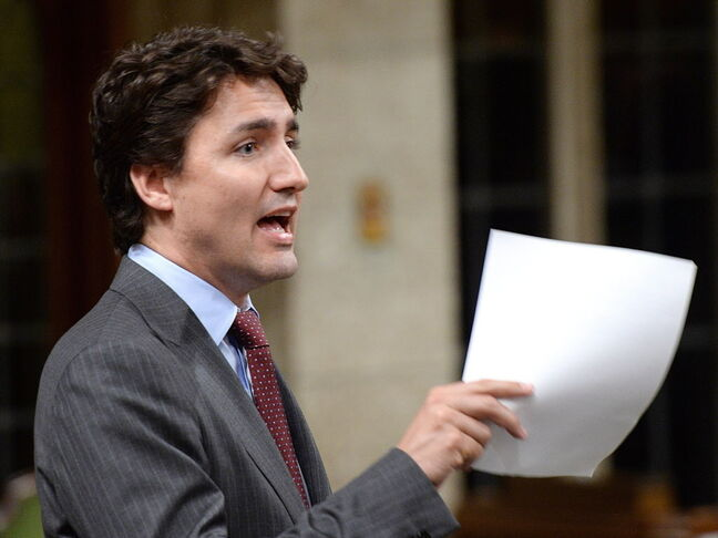 Liberal Leader Justin Trudeau asks a question during question period in the House of Commons on Parliament Hill in Ottawa on May 15, 2014.THE CANADIAN PRESS/Sean Kilpatrick