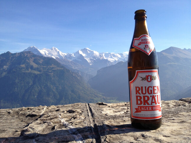 Just drinking a beer at the top of the Alps, no big deal.