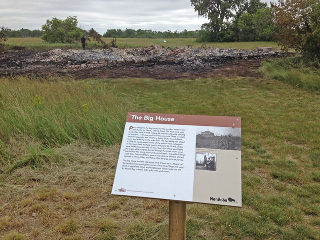 The historic Big House at the Criddle/Vane Homestead provincial historic site burned to the ground Wednesday night. The 40-foot-by-40-foot house had eight bedrooms and was built in 1906.
