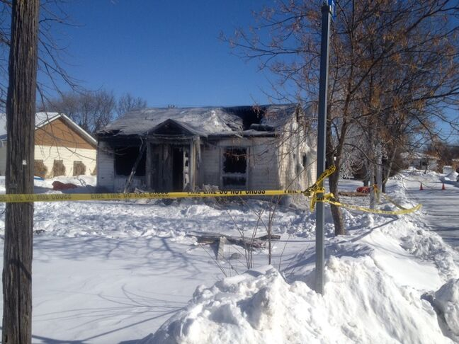 A woman is dead and a man in hospital after a fire in Boissevain early Tuesday morning. Firefighters say it took four hours to extinguish the blaze.