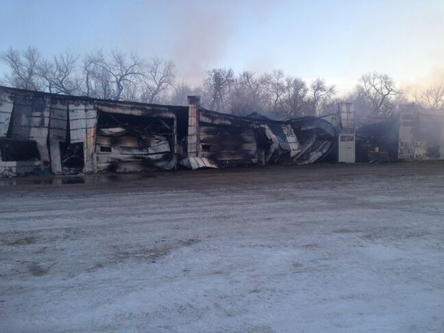 A Hamiota feedlot has been destroyed after a fire.