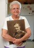 Isabel Shaw holds a photograph of her father George Oliver, who was part of the first contingent from Brandon to go to battle in the First World War with the 12th Manitoba Dragoons.
