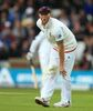 England's Ben Stokes holds his knee before going off injured during day two of the first cricket Test at Headingley, Leeds, England Friday May 20, 2016. England will play Sri Lanka in a three match Test series this summer. (Mike Egerton/PA via AP) UNITED KINGDOM OUT NO SALES NO ARCHIVE