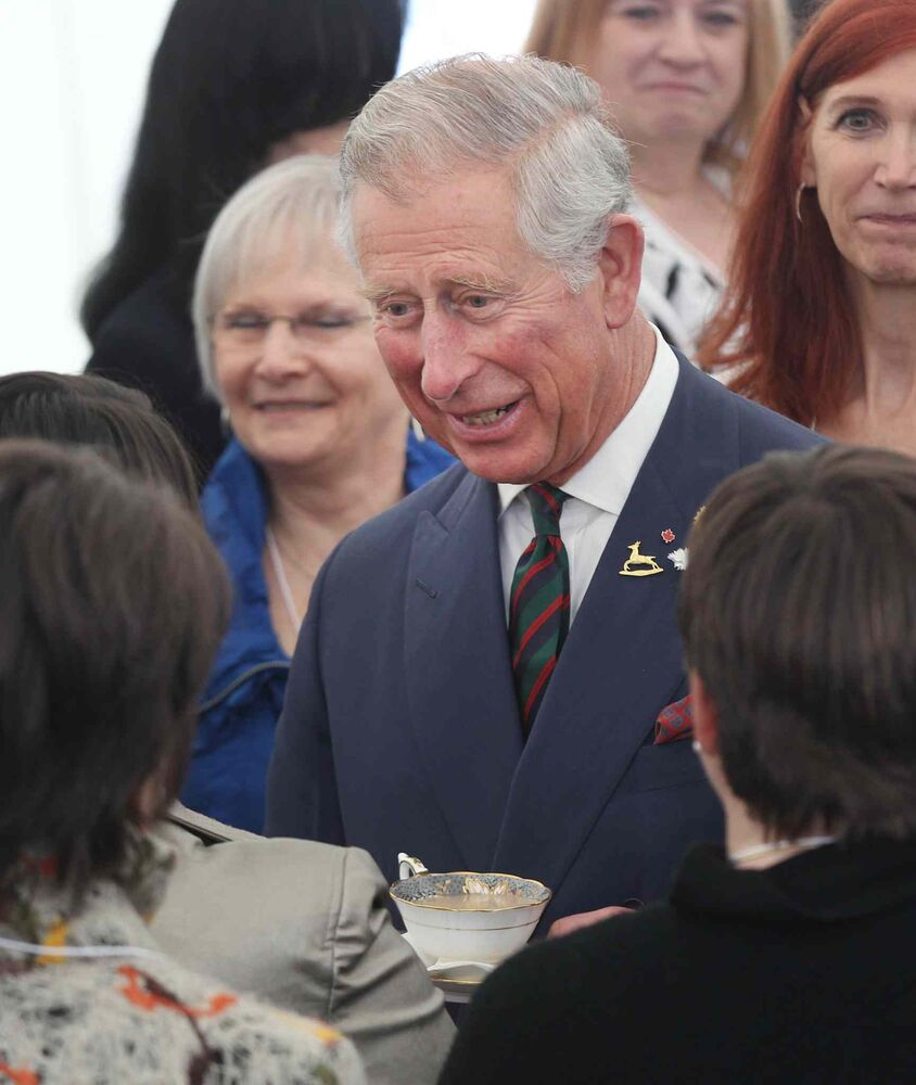 Prince Charles at Place Bernadette Poirer. (JOE BRYKSA / WINNIPEG FREE PRESS)
