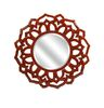 This photo provided by Overstock.com shows a Calantha mirror. The rich deep red of this Calantha wall mirror from Overstock is one of the major color trends for 2015. (AP Photo/Overstock.com)