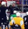 Kelly McCrimmon leads the Brandon Wheat Kings through a practice during the Western Hockey League playoffs. McCrimmon is trading in his role as head coach of the Canadian under-18 hockey team this summer to be an assistant with the national junior squad.