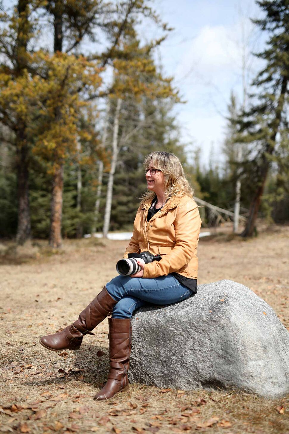 Dauphin based photographer Debora Crammond at one of her favourite spots in Riding Mountain National Park. (Tim Smith/The Brandon Sun)