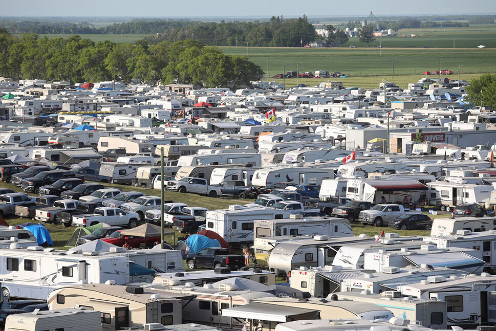 Campers pack the camping areas during Dauphin's Countryfest 2019. (Tim Smith/The Brandon Sun)