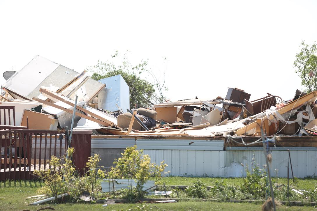 A house  just off Bluff Creek Road near Margaret Bruce Beach has been completely destroyed after a tornado on Friday.