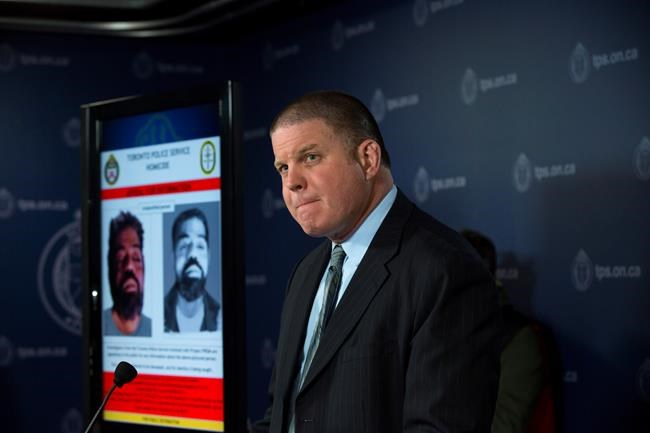 Detective Sergeant Hank Idsinga speaks to media regarding an unidentified male believed to be connected to the Bruce McArthur case, during a press conference at the Toronto Police Headquarters in Toronto on Wednesday, April 11, 2018. THE CANADIAN PRESS/Cole Burston