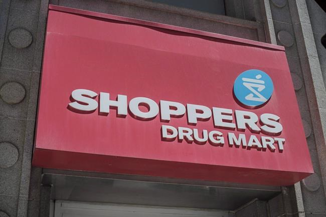The logo for Shoppers Drug Mart is shown in downtown Toronto, on Tuesday, May 24, 2016. Shoppers Drug Mart has been granted a licence to sell medical marijuana online. THE CANADIAN PRESS/Eduardo Lima