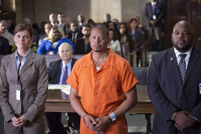 """In this image released by Fox, Terrence Howard portrays Lucious Lyon in the season two premiere of """"Empire."""" Fans of the hip-hop soap opera """"Empire"""" will soon have to look elsewhere to watch it in Canada as the TV series is being dropped from its prime-time TV slot and is moving to Shomi. THE CANADIAN PRESS/AP, FOX - Chuck Hodes"""