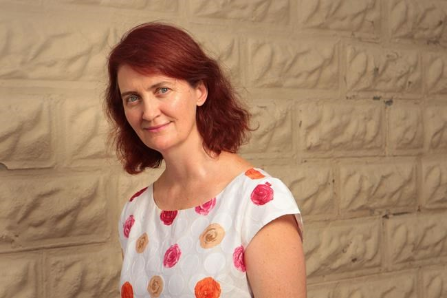 """Award-winning author Emma Donoghue poses in her home town of London, Ont. on Sunday, Sept. 6, 2016. """"Room"""" author Emma Donoghue says auditions are well underway for the stage adaptation of her international bestseller about a young mother and boy held captive in a storage shed. THE CANADIAN PRESS/Dave Chidley"""
