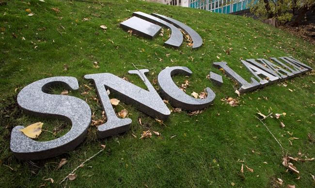 The front lawn of the headquarters of SNC-Lavalin is seen in Montreal on Thursday, Nov. 6, 2014. THE CANADIAN PRESS/Paul Chiasson