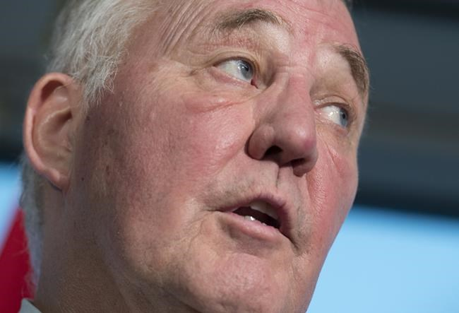 Federal Minister of Border Security and Organized Crime Reduction, Bill Blair speaks during a news conference in Vancouver, Tuesday, Jan 22, 2019. Blair says he is in discussion with lawmakers in the United States on ways to close a loophole in Canada's border agreement with the U.S. ??? a loophole largely seen as an incentive for asylum seekers to cross into Canada through non-official entry points. THE CANADIAN PRESS/Jonathan Hayward