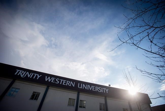 A building is seen at Trinity Western University in Langley, B.C., on Wednesday, February 22, 2017. The Supreme Court of Canada is set to release its decision Friday on whether law societies have the right to deny accreditation to a proposed law school at a Christian university in British Columbia. THE CANADIAN PRESS/Darryl Dyck