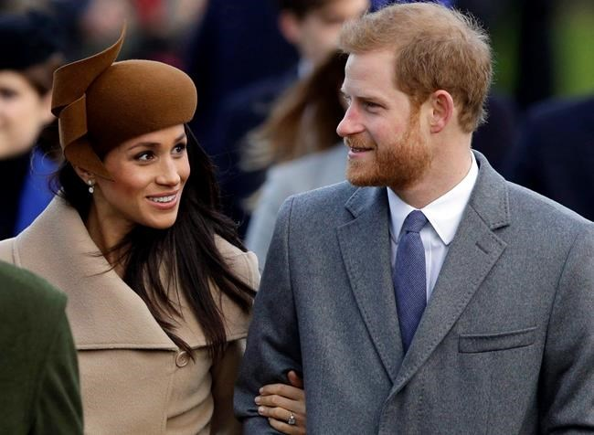 Britain's Prince Harry and his fiancee Meghan Markle arrive to attend the traditional Christmas Day service, at St. Mary Magdalene Church in Sandringham, England, on December 25, 2017. The big day has arrived. With wedding bells soon to toll on the grounds of Windsor Palace, alarm clocks are chiming across the ocean as bleary-eyed Canadians rise at the crack of dawn to ring in the royal nuptials of Prince Harry and American-born actress Meghan Markle. THE CANADIAN PRESS/AP, Alastair Grant