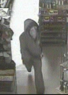 Police released this photo of the suspect who stole four handguns from Home Hardware Building Centre earlier this week.