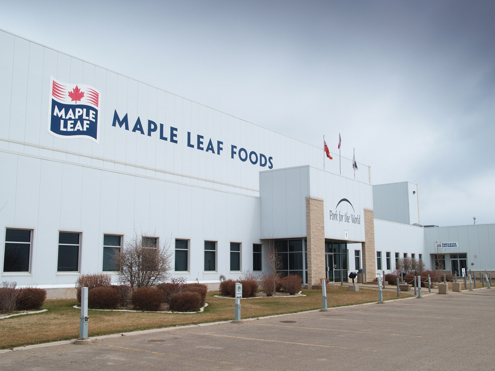 Brandon firefighters and police responded to a fire at the Maple Leaf Foods plant in Brandon in the early morning hours of Tuesday, Oct. 3. No injuries have been reported.
