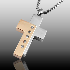 "Missing Necklace: ""Five Crystal Cross Cremation Jewelry"""