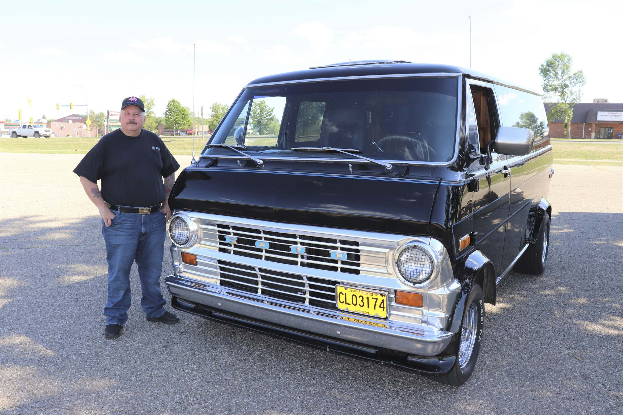 """Kyle Darbyson/The Brandon Sun</p> <p>Mike Yates poses for the photo next to his 1971 Ford Econoline van in the Sobeys West parking lot in Brandon Tuesday night.  Yates told The Sun he wanted to use this vintage vehicle to give Westman residents a glimpse into the van craze of the '60s and' 70s.</p> </p> <p>""""/><figcaption> <p>Kyle Darbyson / Brandon's Sun</p> <p>Mike Yates poses for the photo next to his 1971 Ford Econoline van in the parking lot of Sobeys West in Brandon on Tuesday night.  Yates told The Sun he wanted to use this vintage vehicle to give Westman residents a glimpse into the van craze of the 1960s and '70s.</p> </figcaption></figure> <p>However, the 57-year-old said the real star of the show was the Econoline's comfortable interior, with its buttoned leather doors, crushed velor bed, ambient lighting and mini cooler.</p> <p>""""It's like your own little house on wheels,"""" he said.</p> <p>While opportunities to show off the Econoline have been scarce during the pandemic, Yates has revealed that he has been able to participate in a few recent cruise events now that the COVID-19 vaccination campaign is gaining momentum.</p> <p>Throughout these gatherings, including last Sunday's local Father's Day cruise to Killarney, the Brandon resident noticed that the 1970s Econoline is more popular than ever with his fellow Westman vans, as these vans are not a daily sight in the area.</p> <figure class="""