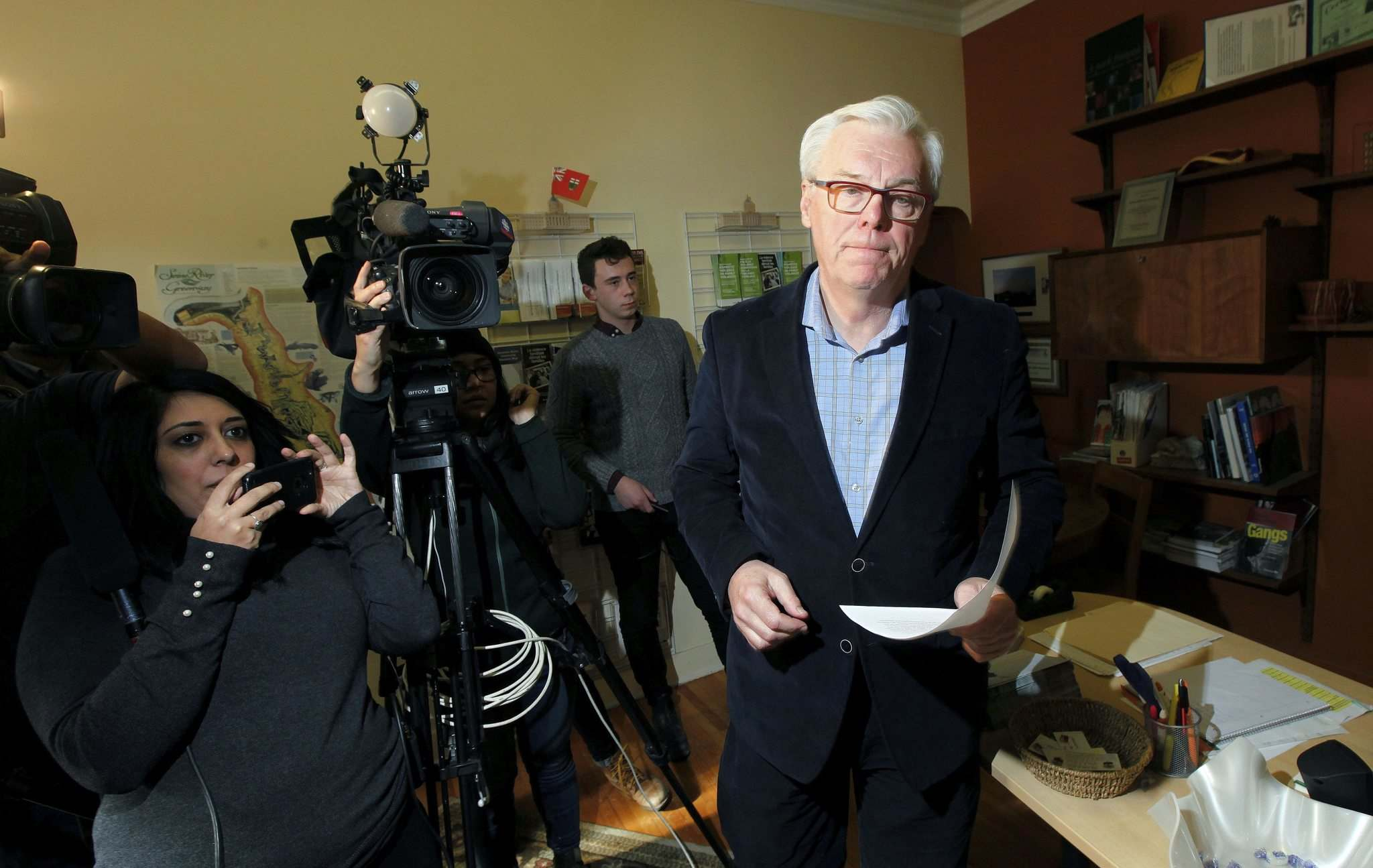 &#34;I came here to apologize and to accept responsibility for what happened on my watch,&#34; former NDP premier Greg Selinger said Tuesday. (Phil Hossack / Winnipeg Free Press)</p>