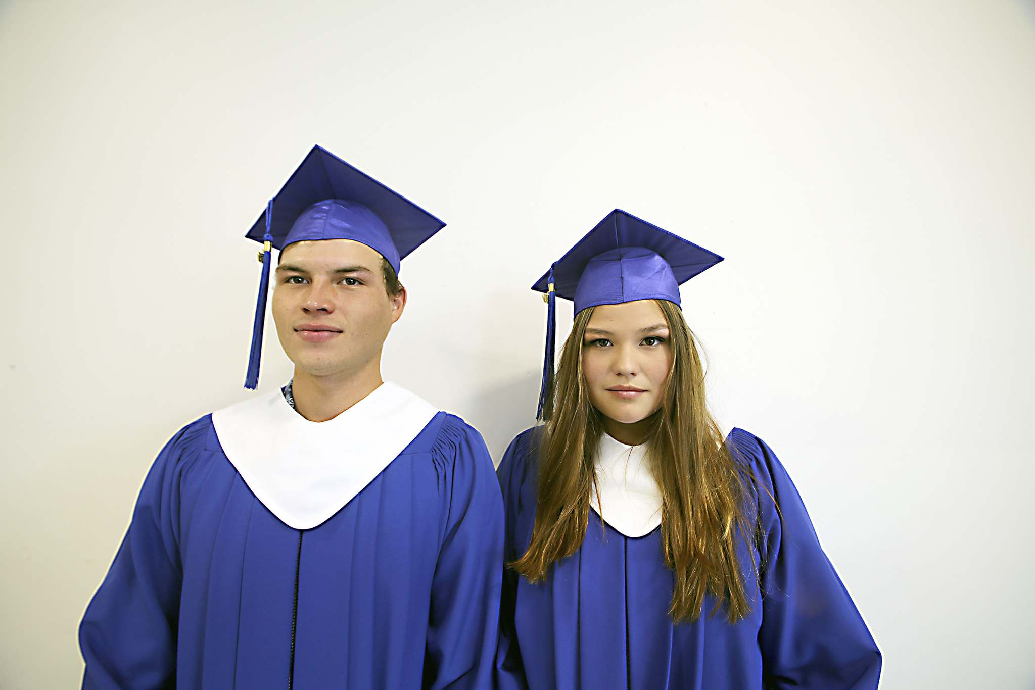 Siblings Blake and Cheyenne Fleury graduated together from Prairie Hope High School on Thursday.