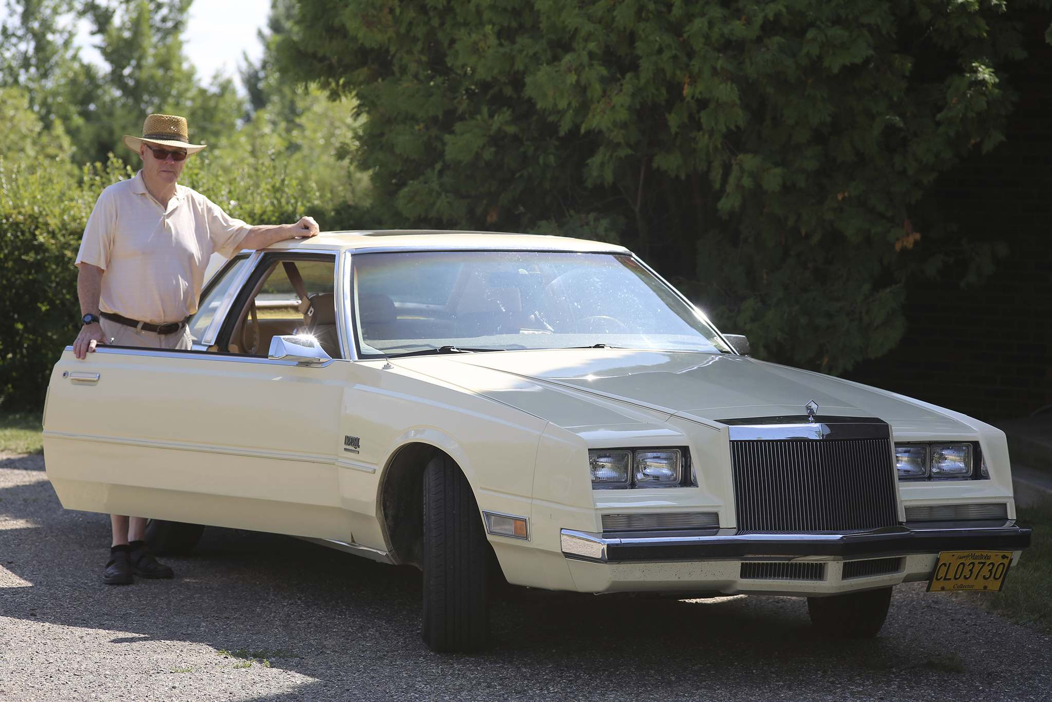 Reg Atkinson showcases his 1981 Chrysler Imperial on Monday. The former Reeve for the Rural Municipality of Cornwallis said he plans to give this classic car to his grandson Ozy once he is of age.  (Kyle Darbyson/The Brandon Sun)