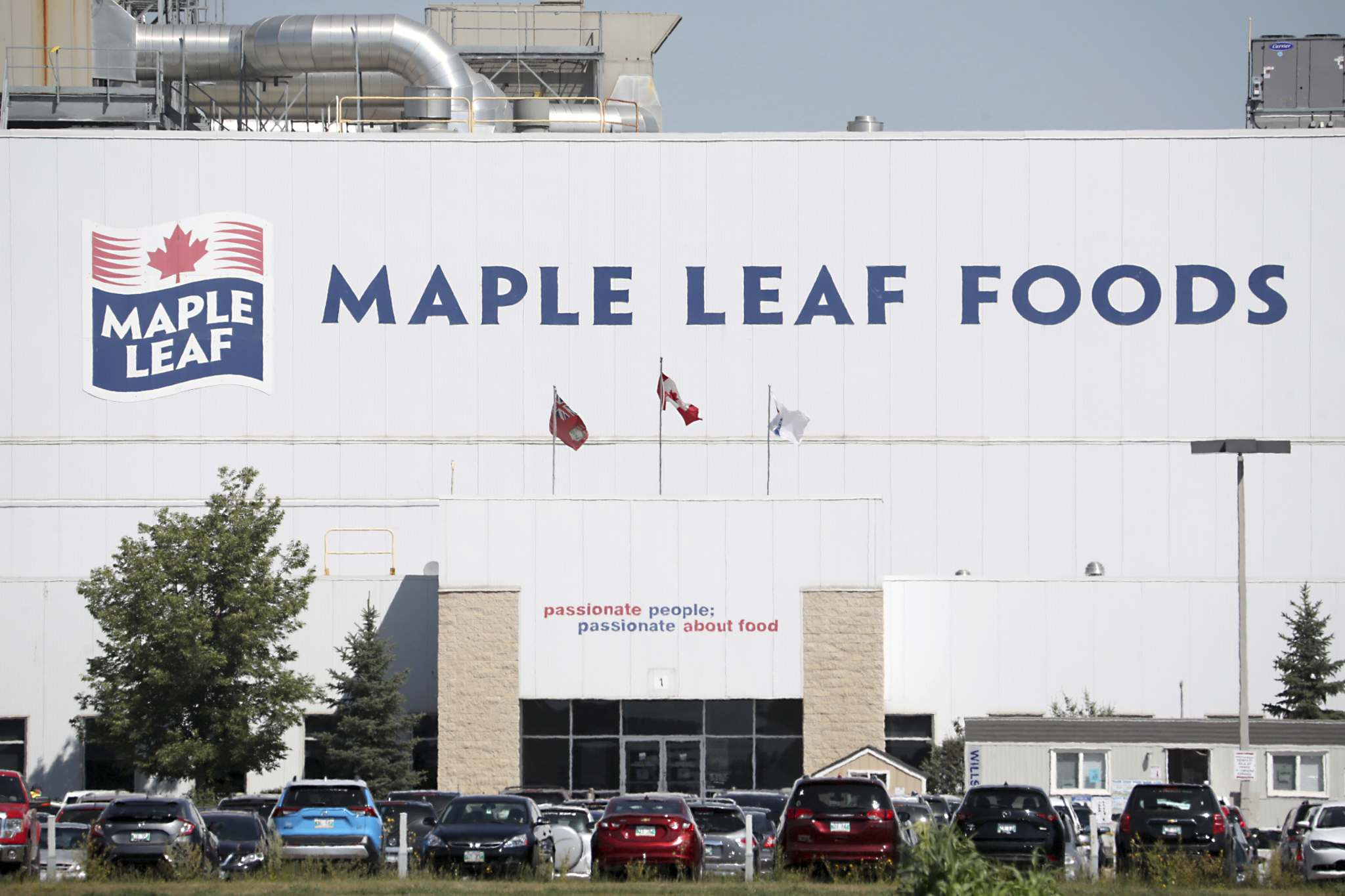 The Maple Leaf Foods plant is seen in Brandon. (File)