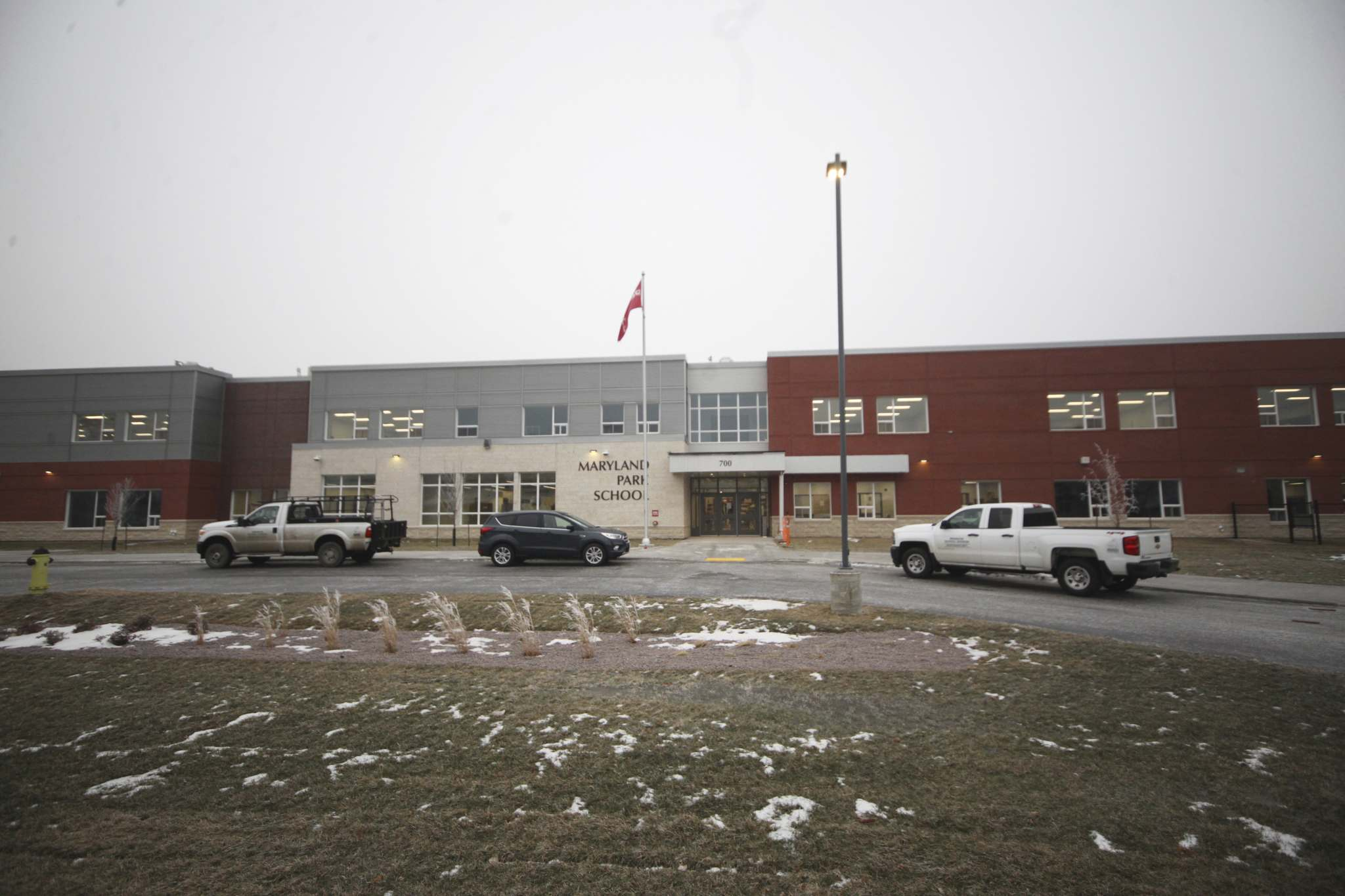 The exterior of Maryland Park School on Friday afternoon. Brandon's newest school will officially welcome K-8 students and staff starting in January. (Matt Goerzen/The Brandon Sun)</p></p>