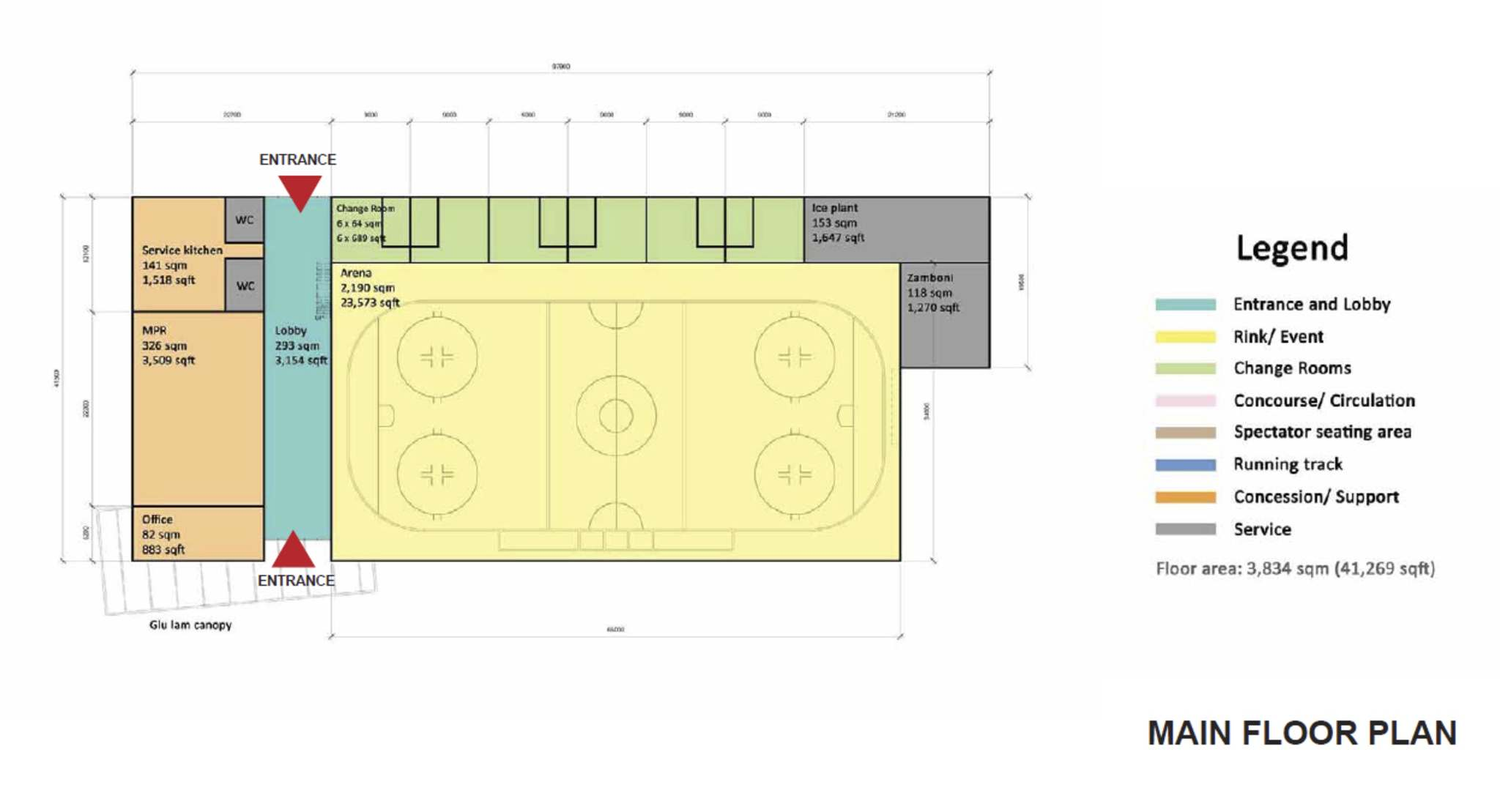 A first-draft floor plan for the new arena in Boissevain arena, which is likely to change as the community weighs in with suggestions. (Municipality of Boissevain-Morton)</p></p>