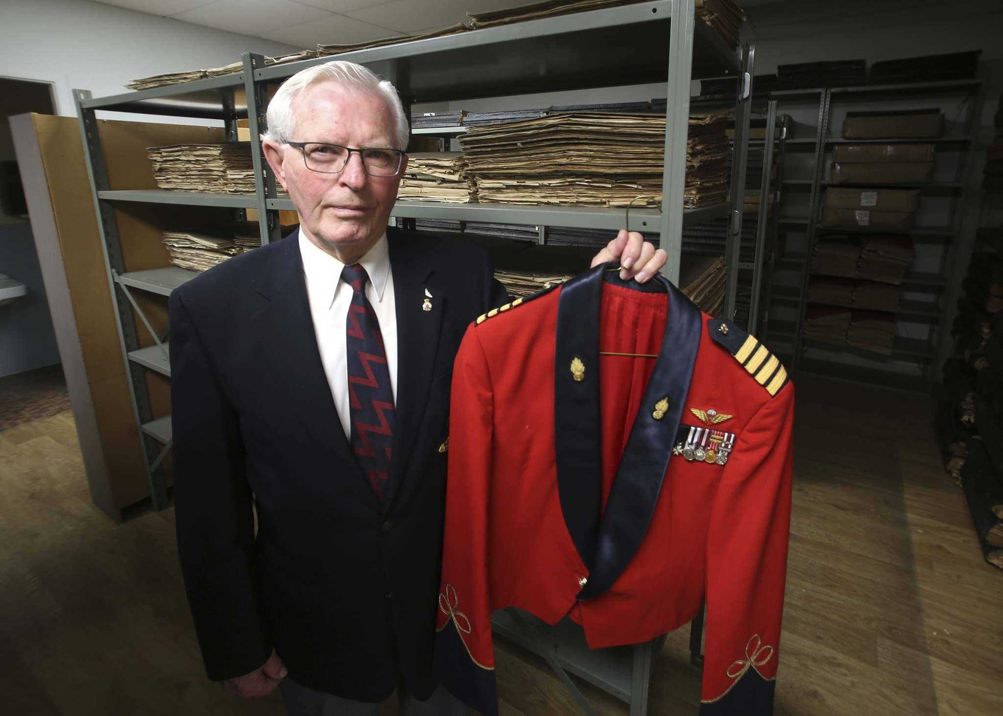 26th Field Regiment Royal Canadian Artillery / XII Manitoba Dragoons Museum president Don Berry is seen in The Brandon Sun's archive room. (Tyler Clarke/The Brandon Sun)</p></p>