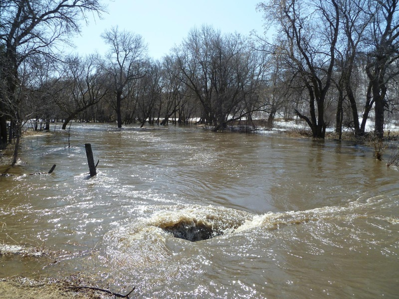 Flooding hit hard in the lakeside community of Ninette on April 13.