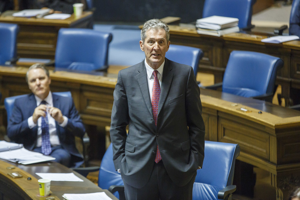 Premier Brian Pallister addresses the speaker during question period earlier this week. (File)