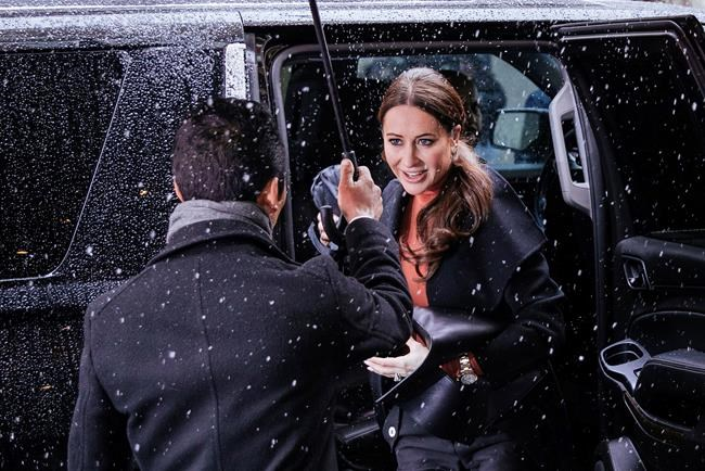 "Jessica Mulroney arrives for the baby shower for Meghan, Duchess of Sussex, at the Mark Hotel Wednesday, Feb. 20, 2019, in New York. Bell Media is pulling Jessica Mulroney's reality series ""I Do, Redo"" off the air after the celebrity stylist was accused by lifestyles influencer Sasha Exeter of threatening her career. THE CANADIAN PRESS/AP/Kevin Hagen"