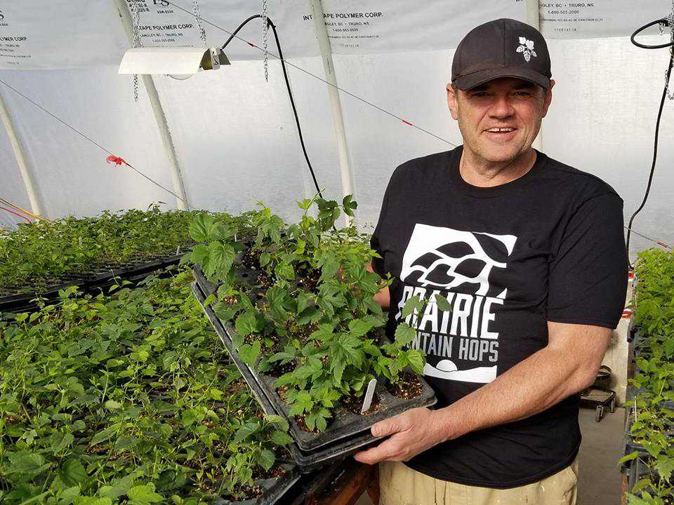 Randy Tye pictured with some of his plants.