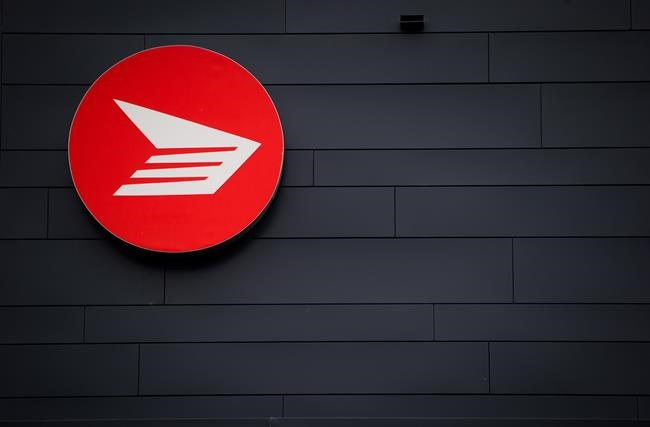The Canada Post logo is seen on the outside the company's Pacific Processing Centre, in Richmond, B.C., on Thursday June 1, 2017. THE CANADIAN PRESS/Darryl Dyck