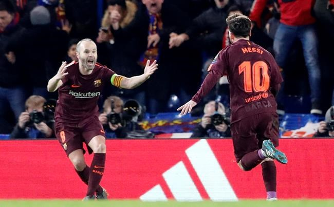 Andres Iniesta suffered a hamstring injury in Barcelona's match with Atletico