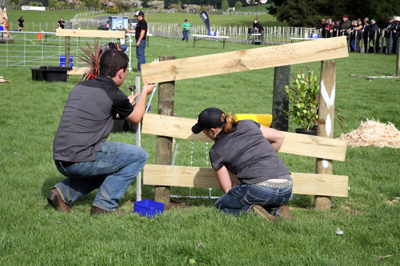 McRae and the Canucks compete in the 'agrinightmare', a series of varied agriculturally related challenges.