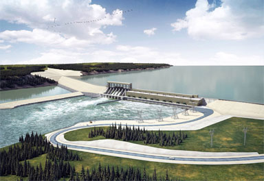 Premier Greg Selinger says export revenues will cut down the cost of the Conawapa dam.