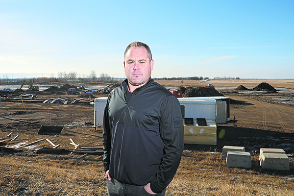 17032021 Jared Jacobson is developing the Western Canada Hockey Academy at a site bordering Patricia Avenue and 34th Street in Brandon's south end.  (Tim Smith/The Brandon Sun)